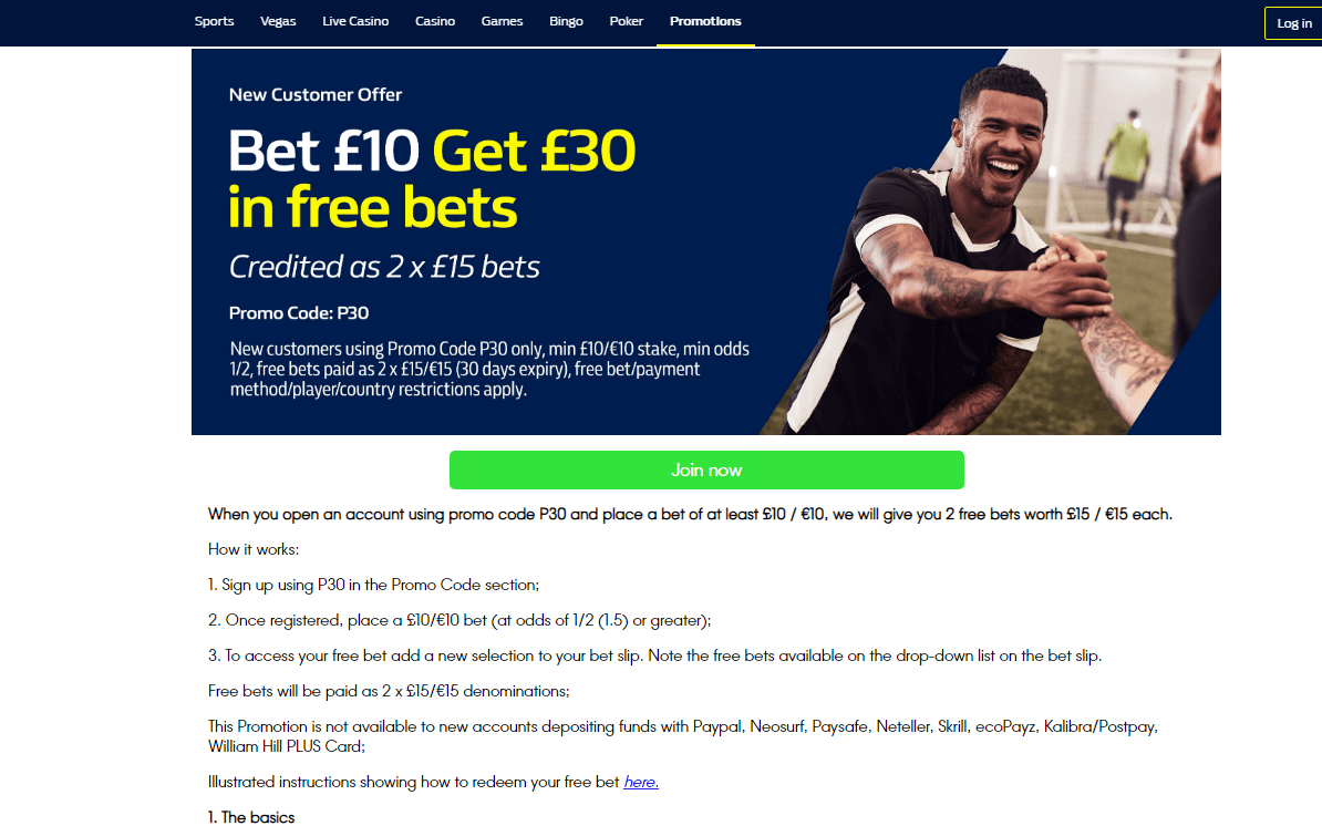 Matched betting example
