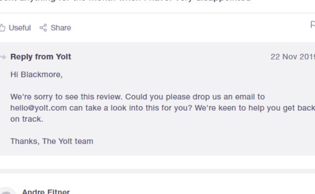 yolt's response