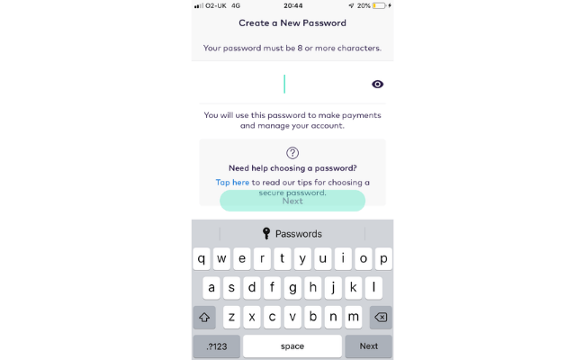creating a password