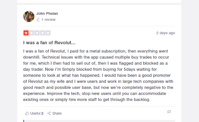 Negative revolut review