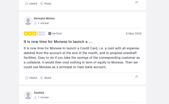 Average monese review