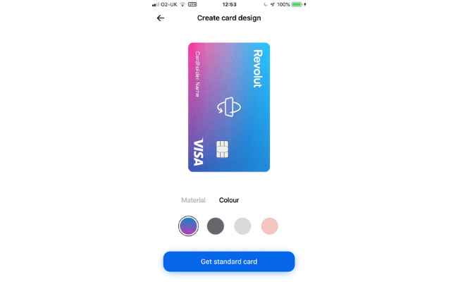 Choosing a card with revolut