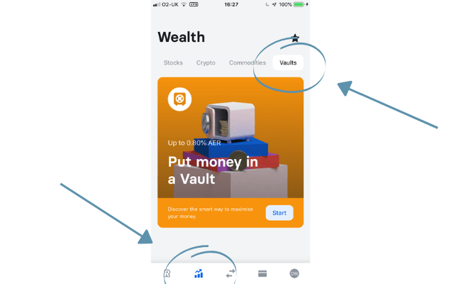 how to create vaults with revolut