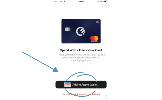 adding the card to apple wallet